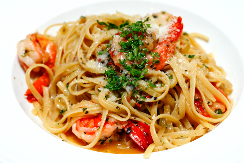 Garlic Chili Tiger Prawn Pasta