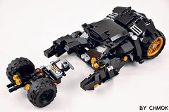 BatMobile and Pod #legos#legobricks#legomoc#legostagram#batman#batmanvssuperman#DC#legomocs#Lego