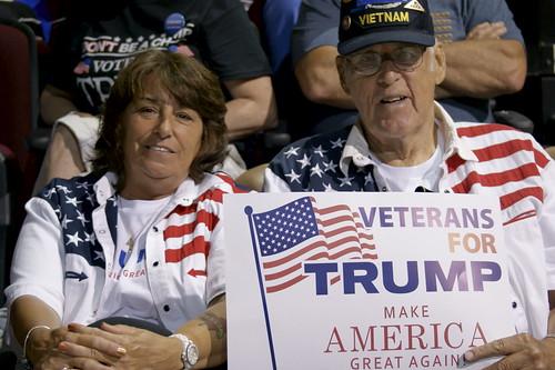 Donald Trump presidential campaign rally, Bangor, Maine, USA.