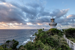 Seal Rocks Sugarloaf lighthouse dawn