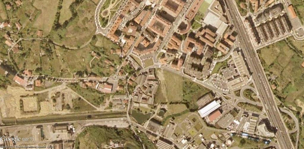 antes, urbanismo, foto aérea, desastre, urbanístico, planeamiento, urbano, construcción,  Leioa, Bizkaia