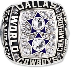 Roger Staubach Super Bowl ring - The Boys Are Back blog website