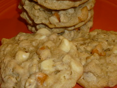 Butterscotch white chocolate chip oatmeal cookies
