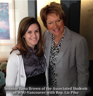 Rep. Liz Pike with Associated Students of WSU Vancouver Senator Ilana Brown
