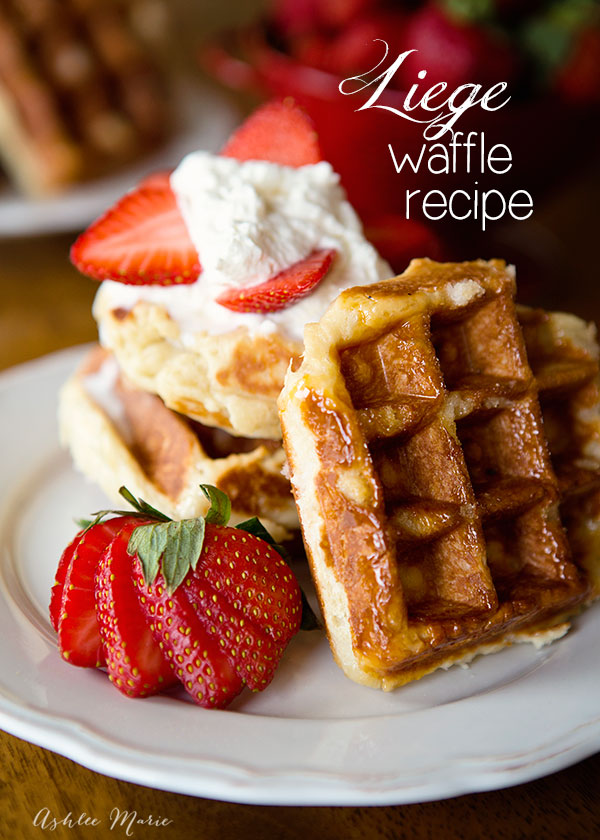 these liege waffles are made with yeast and pearl sugar and are amazing, for the most authentic flavor it