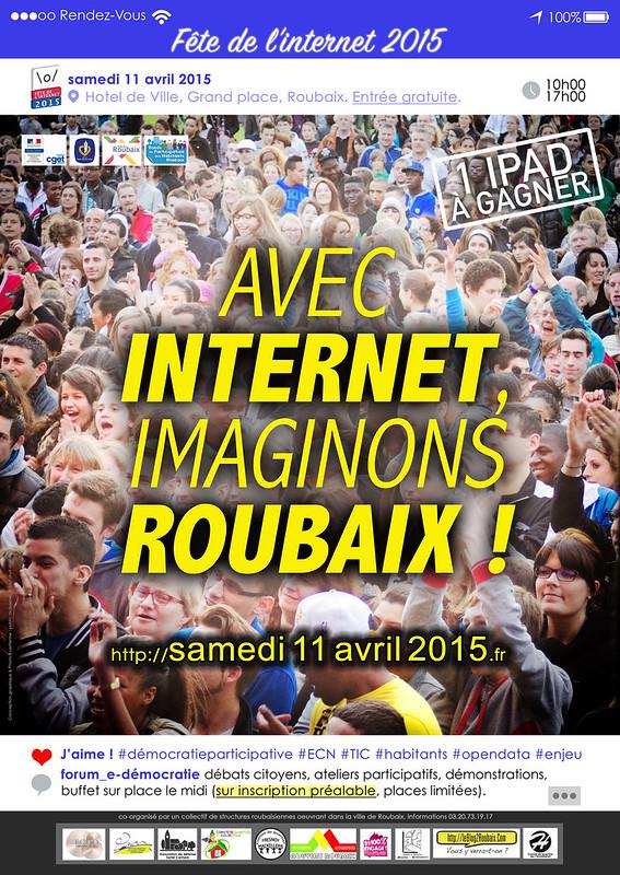 la Fête de l'Internet 2015 à Roubaix