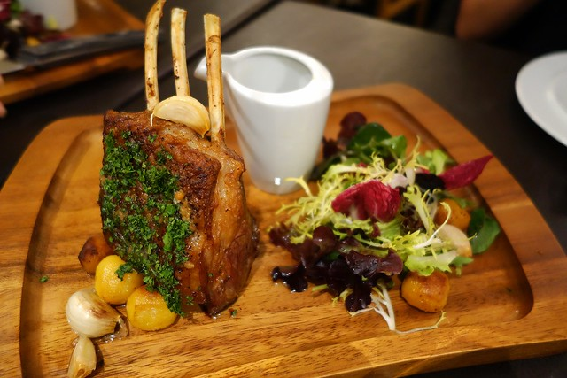 Rotisserie Rack of Lamb at Shelter in the Woods