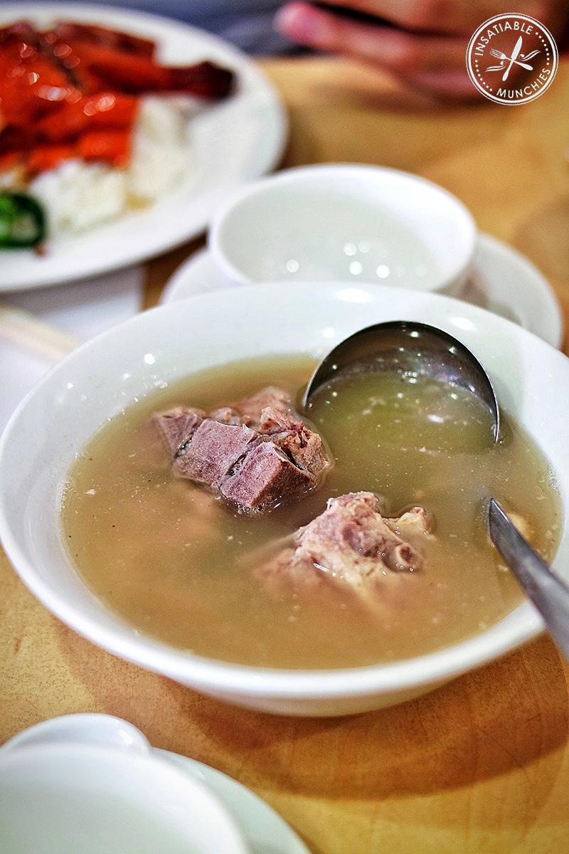 Complimentary Pork Soup, BBQ One, Eastwod