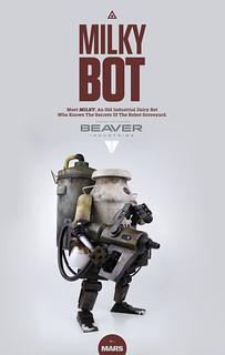 【官圖更新】threeA –【牛奶小子】MILKY BOT 1/6 比例 巨大機器人作品