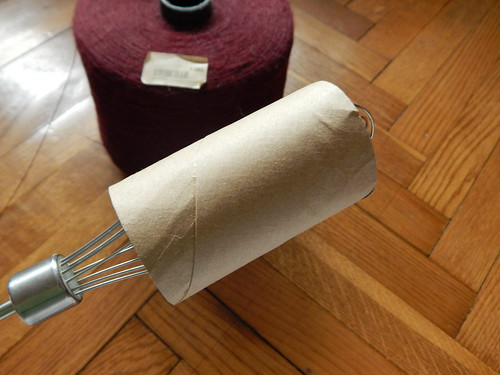втулка от туалетной бумаги на миксере