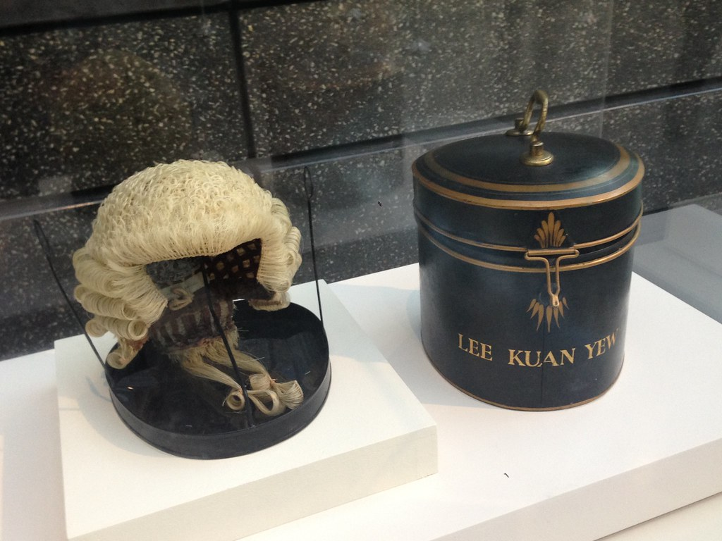 Lee Kuan Yew's barrister's wig and container, National Museum of Singapore