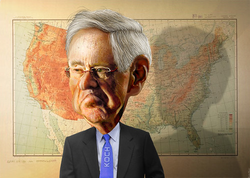 Charles Koch - Caricature