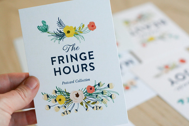 weekend giveaway: The Fringe Hours postcards | yourwishcake.com