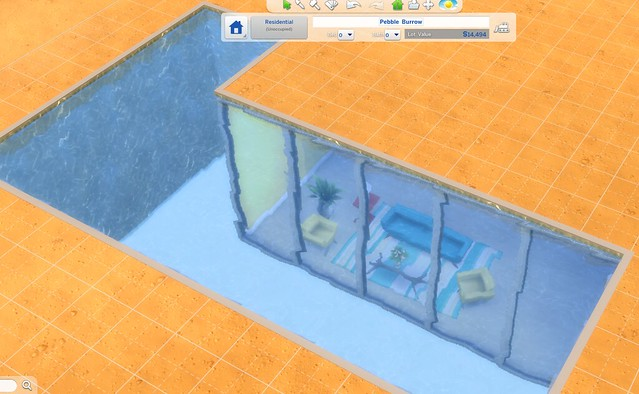 Mod The Sims I cant place my basement next to my pool