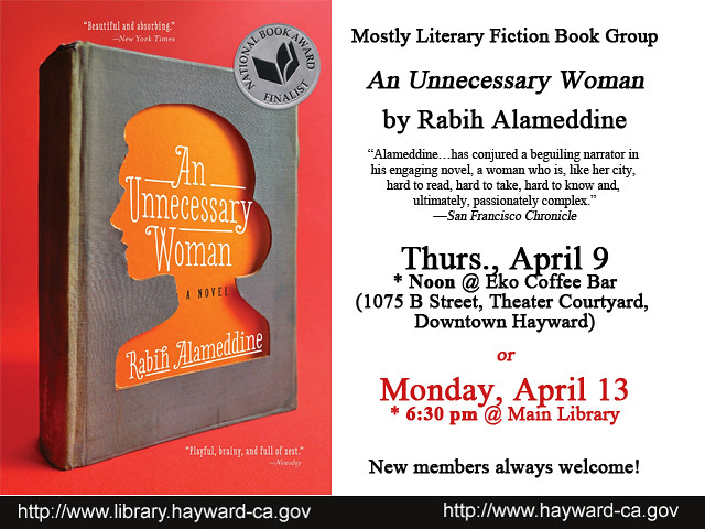 Mostly Literary Fiction Book Group Discusses An Unnecessary Woman by Rabih Alameddine