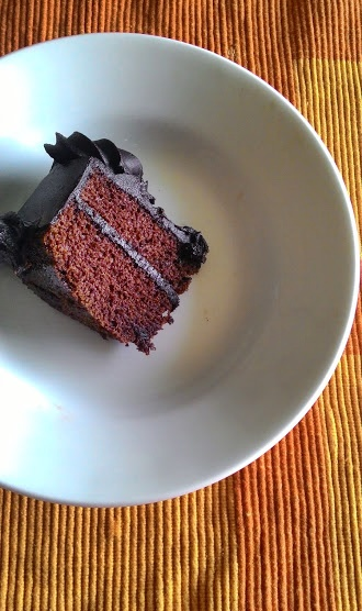 Eggless Devil's Food Cake
