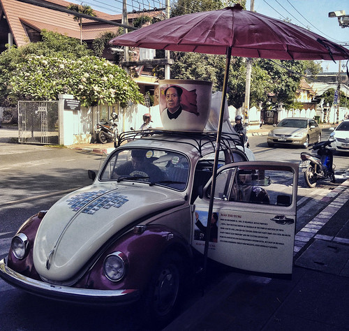 Vintage Volkswagen Mobile Coffee Shop, Chiang Mai, Thailand