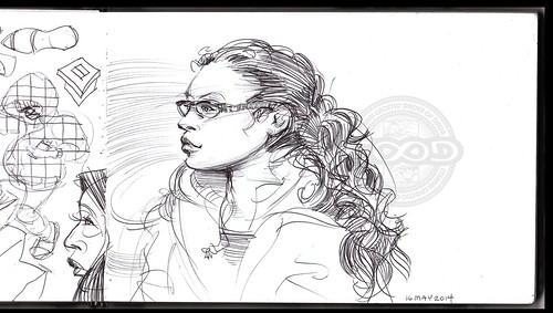 Sketch_2014_Girl With Glasses