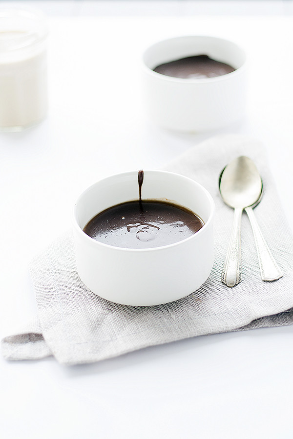 irish cream panna cotta with irish cream chocolate ganache