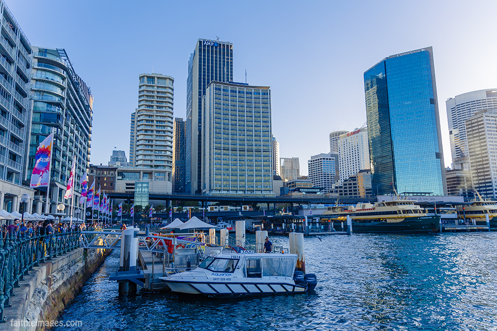 Circular Quay, its buildings and ferries