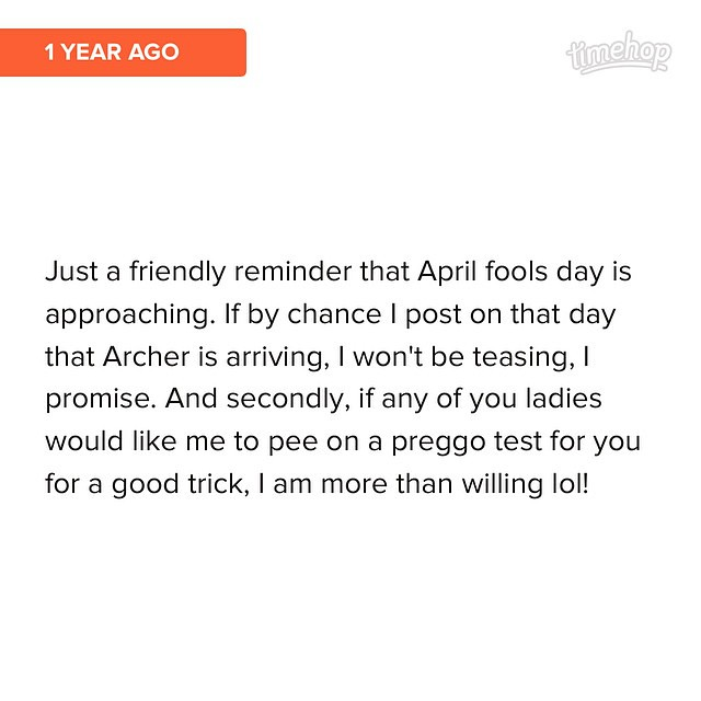 Archer knows how to play April Fools pranks, and I had a feeling he would... #timehop by bartlewife