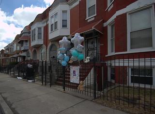 memorial for Anthony Hayes, 2800 block of West Warren Boulevard, East Garfield Park