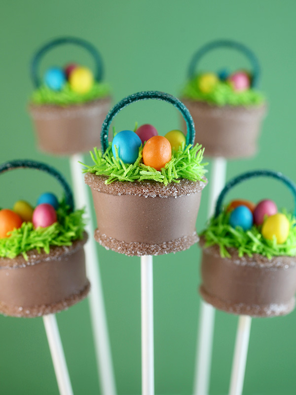 Easter basket cake pops bakerella easter basket cake pops negle Gallery