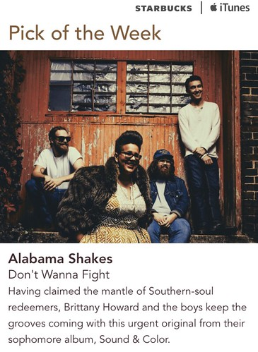 Starbucks iTunes Pick of the Week - Alabama Shakes - Don't Wanna Fight