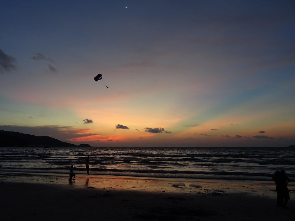 New moon sunset at Patong