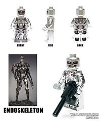 LEGO TERMINATOR ENDOSKELETON MINIFIGURE