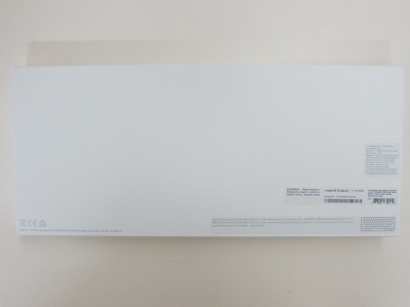 Apple Magic Keyboard - Box Back