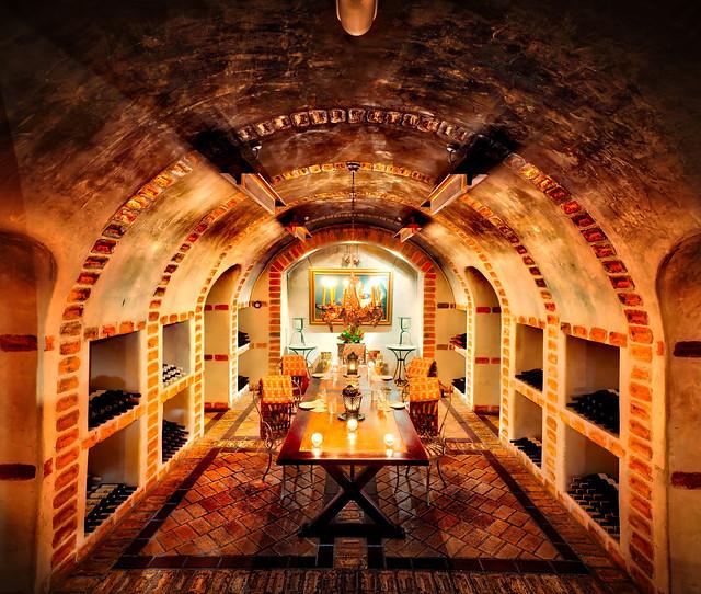 Deep In The 5,000 Bottle Wine Cellar Of Huka Lodge