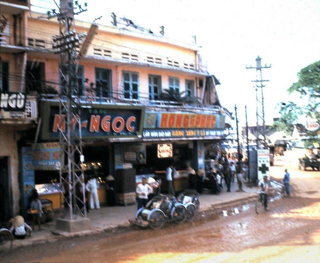 Qui Nhon Street - Photo by SP5 Art Harrison 1966-67