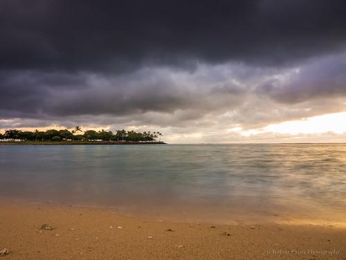 longexposure trees sunset seascape storm beach clouds hawaii sand waikiki oahu olympus palmtrees pacificocean honolulu cloudporn omd alamoana makai em5