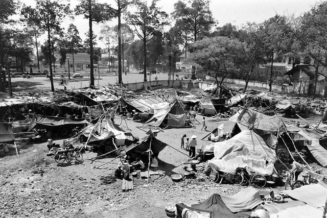 SAIGON Feb 1968 - Refugees Camp In Cholon - Photo by Carl Mydans