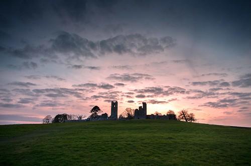ireland sunset heritage history silhouette hill patrick keith kingston monastery celtic slane
