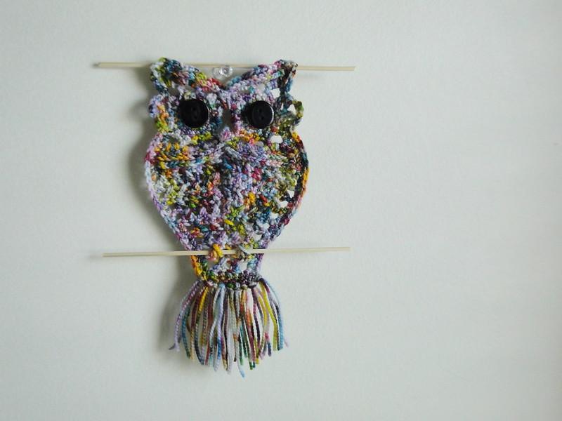 macrame style owl