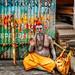 A holy man at Varanasi, India by antonioVi (Antonio Vidigal)