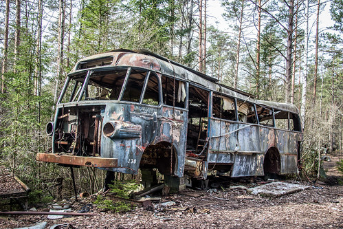 Bus at the Car graveyard