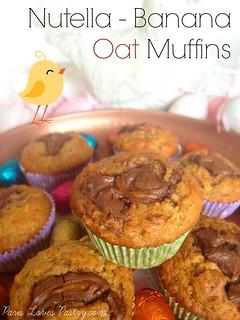 Nutella - Banana Oat Muffins