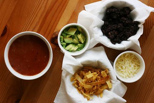Aztec soup (spicy tortilla soup)