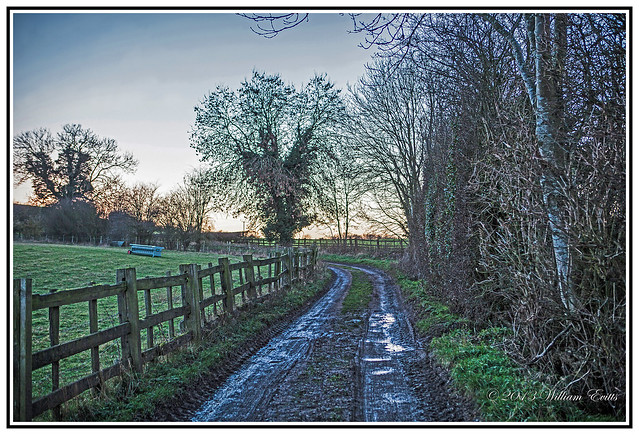 Long Buckby - Northamptonshire, England - A Muddy Lane from the Farm