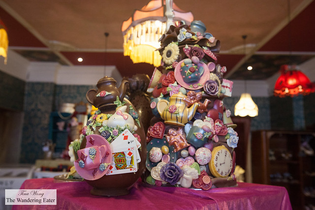 Elaborate chocolate centerpieces at Heavenly Chocolates