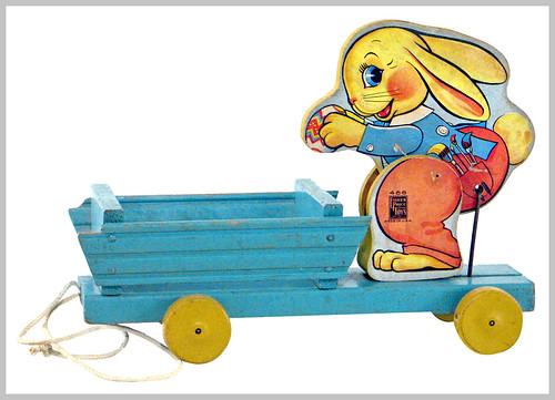 1941 busy bunny egg wagon, fisher price