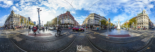 360° Panoramic O`Connell Street Dublin