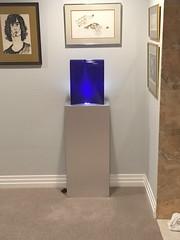 Brushed Aluminum Spotlight Pedestal