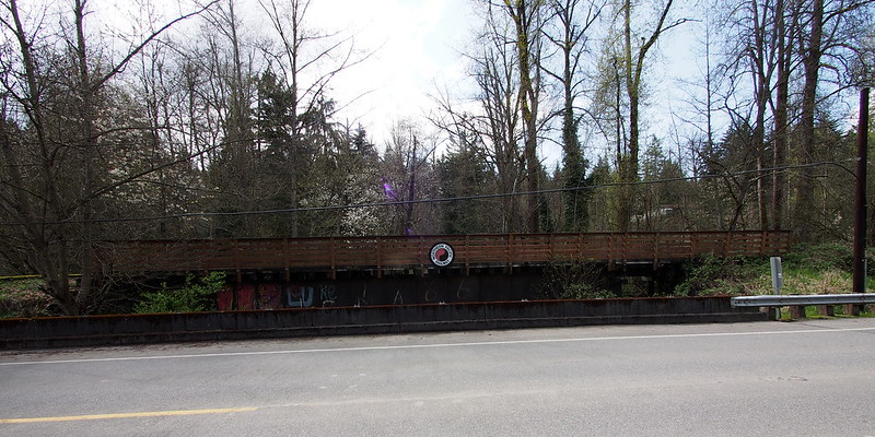 Old Northern Pacific Bridge: Now carries the Wilkeson stub of the Foothills Trail