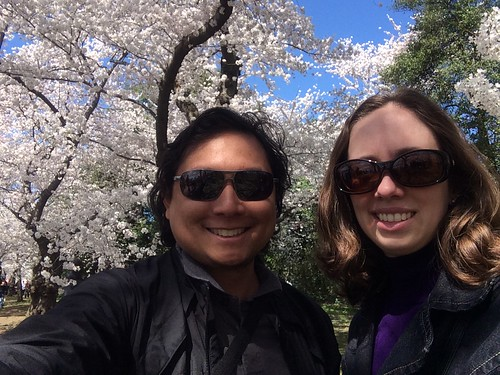 Me and Amy with cherry blossoms