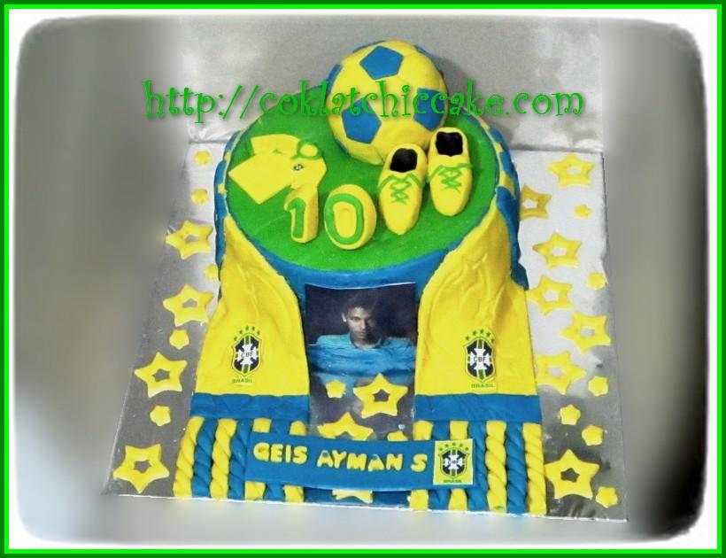 Cake Tim Bola Brasil Geis Ayman Jual Kue Ulang Tahun