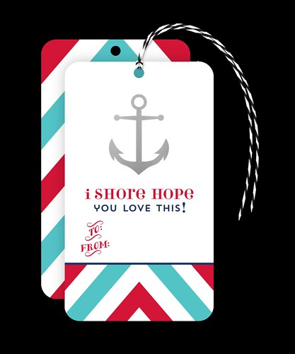 Matrick and Eve I Shore Hope You Love This Gift Tag